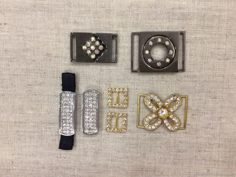 Пряжка металлическая со стразами Tesoro Crystal, Материалы, Балашиха, Фото №1