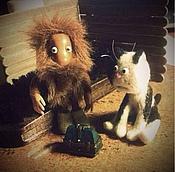 Куклы и игрушки ручной работы. Ярмарка Мастеров - ручная работа Ёжкин кот (кот Бабы Яги из мультика про домовёнка Кузю). Handmade.