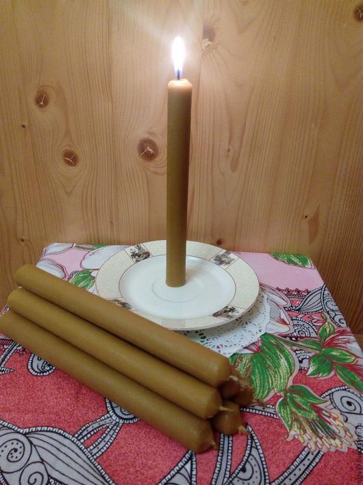 Свечи ручной работы. Ярмарка Мастеров - ручная работа. Купить Свеча восковая тёмная. Handmade. Свеча восковая, для дома и интерьера