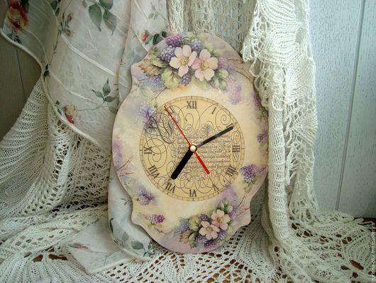 """Часы для дома ручной работы. Ярмарка Мастеров - ручная работа. Купить Часы """" АКВАРЕЛЬ"""". Handmade. Часы декупаж, подарок"""