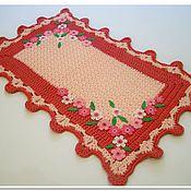 Для дома и интерьера handmade. Livemaster - original item Mat - rug knitted cord Floral. Handmade.