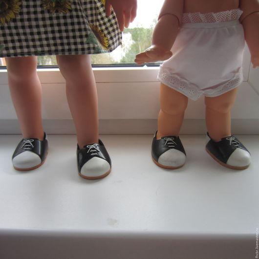 Одежда для кукол ручной работы. Ярмарка Мастеров - ручная работа. Купить Туфли 7,5х4,5. Handmade. Чёрно-белый