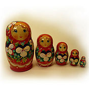 Русский стиль handmade. Livemaster - original item Matryoshka 5 local Floral small 6. Handmade.