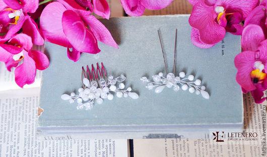 гребень, гребень для волос, гребешок, гребень серебро, гребни, гребень с цветами волосы, гребни для волос, свадебный гребень, свадебные аксессуары, свадебные украшения, украшение невесты,  украшения