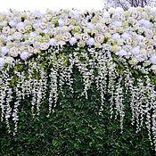 Свадебный салон ручной работы. Ярмарка Мастеров - ручная работа Стена из цветов в аренду. Handmade.