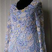 """Одежда ручной работы. Ярмарка Мастеров - ручная работа Платье  """"Капелька нежности-2"""" с длинным рукавом. Ирландское кружево. Handmade."""