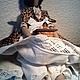 """Куклы Тильды ручной работы. Тильда Кофейный Ангел """"Адель"""". Старый шкаф. Ярмарка Мастеров. Подарок бабушке, кофейная кукла"""