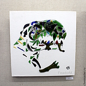 """Для дома и интерьера ручной работы. Ярмарка Мастеров - ручная работа Панно на стену """" Тираннозавр """". Handmade."""