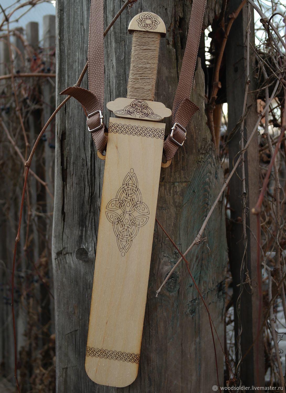 Sword wooden 'Varyag' unpainted, Stuffed Toys, Izhevsk,  Фото №1