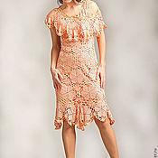 """Одежда ручной работы. Ярмарка Мастеров - ручная работа Платье вязанное """"Фруктовый мус"""". Handmade."""