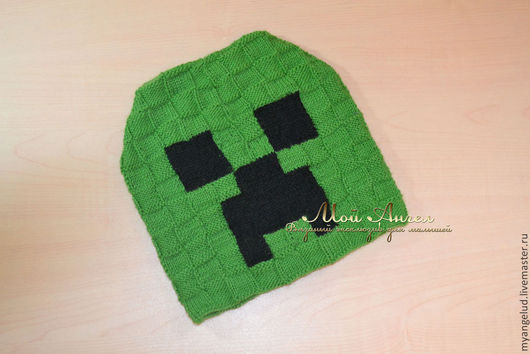 Шапки и шарфы ручной работы. Ярмарка Мастеров - ручная работа. Купить шапочка для мальчика Minecraft  Крипер. Handmade. Зеленый, игра