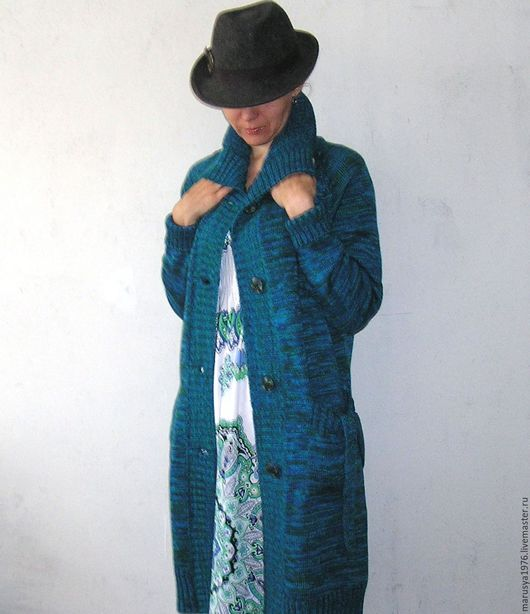 Кофты и свитера ручной работы. Ярмарка Мастеров - ручная работа. Купить Кардиган. Handmade. Бирюзовый, разноцветный, бирюзово-зеленый
