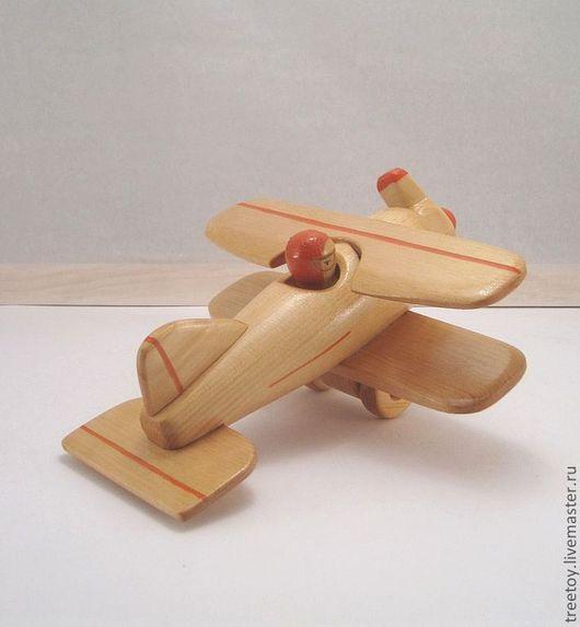Техника ручной работы. Ярмарка Мастеров - ручная работа. Купить Самолет с одним пилотом. Handmade. Ярко-красный, изделие из кедра