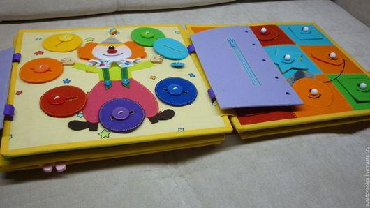 Развивающие игрушки ручной работы. Ярмарка Мастеров - ручная работа. Купить Книга для Кати.. Handmade. Развивающая книжка, подарок малышам