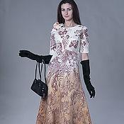 """Одежда ручной работы. Ярмарка Мастеров - ручная работа Валяное платье """"Цветы осени"""". Handmade."""