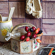 Для дома и интерьера ручной работы. Ярмарка Мастеров - ручная работа Корзинка-лукошко-короб Дары леса. Handmade.