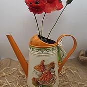 Цветы и флористика handmade. Livemaster - original item Watering can for watering flowers, decorative vase for dried flowers. Handmade.