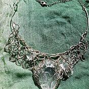 Украшения handmade. Livemaster - original item Necklace with raw rock crystal crystals. Handmade.