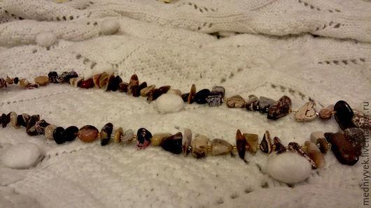 Винтажные украшения. 60 е Натуральный камень. Бусы. Медный век (VLADDIS). Интернет-магазин Ярмарка Мастеров. Бусы