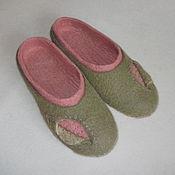 """Обувь ручной работы. Ярмарка Мастеров - ручная работа Тапочки """"Листочек"""". Handmade."""