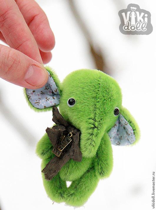 Мишки Тедди ручной работы. Ярмарка Мастеров - ручная работа. Купить Слоник Ёка. Handmade. Зеленый, подарок, слоник тедди