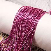Канитель ручной работы. Ярмарка Мастеров - ручная работа Канитель трунцал 4-х гранный розовый, 1 мм. Handmade.