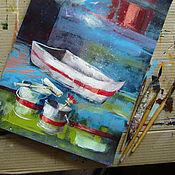 """Картины и панно ручной работы. Ярмарка Мастеров - ручная работа картина """"Скоро в путь!"""". Handmade."""