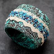 Украшения ручной работы. Ярмарка Мастеров - ручная работа браслет из полимерной глины бирюзовый. Handmade.