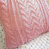 Для дома и интерьера handmade. Livemaster - original item Case/Pillow cover for sofa cushion Pink Relaxed. Pastel. Handmade.