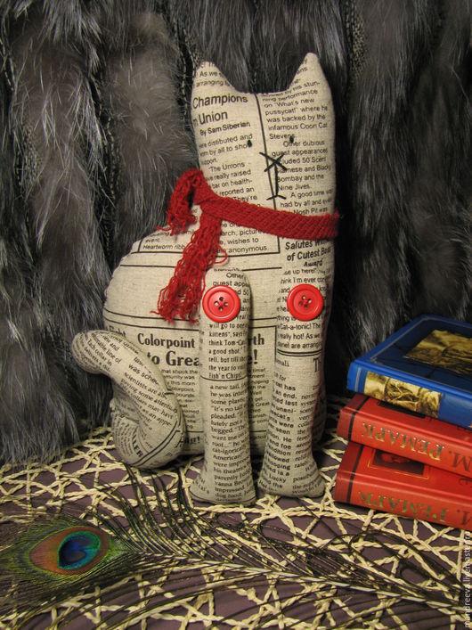 Игрушки животные, ручной работы. Ярмарка Мастеров - ручная работа. Купить Кот Осень. Время для чтения :-). Handmade.