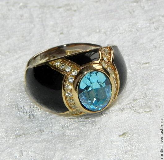 Винтажные украшения. Ярмарка Мастеров - ручная работа. Купить Перстень с голубым топазом,Dior,Кристиан Диор,Германия,60ые,позолота. Handmade.