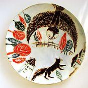 """Посуда ручной работы. Ярмарка Мастеров - ручная работа Тарелка """"Хранительница"""". Handmade."""