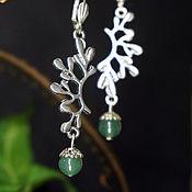 Украшения handmade. Livemaster - original item Long sprig earrings with jade.. Handmade.