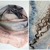 Аксессуары handmade. Livemaster - original item scarf felted Tea rose. Handmade.