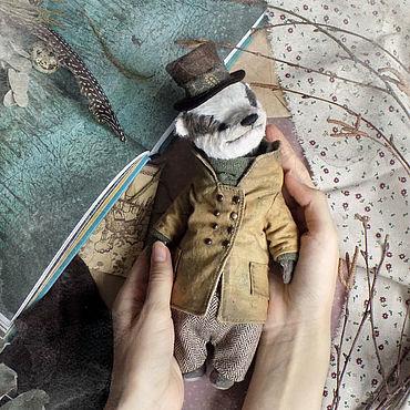 Куклы и игрушки ручной работы. Ярмарка Мастеров - ручная работа Mr. Badger, авторский барсук Тедди. Handmade.