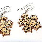 Украшения handmade. Livemaster - original item Stylish wooden earrings