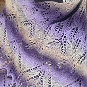 Аксессуары handmade. Livemaster - original item Shawl knitting Wisteria fishnet big. Handmade.