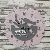 Часы классические ручной работы. Ярмарка Мастеров - ручная работа Часы с логотипом. Handmade.