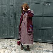 Одежда ручной работы. Ярмарка Мастеров - ручная работа Кардиган Бокал марсала. Handmade.