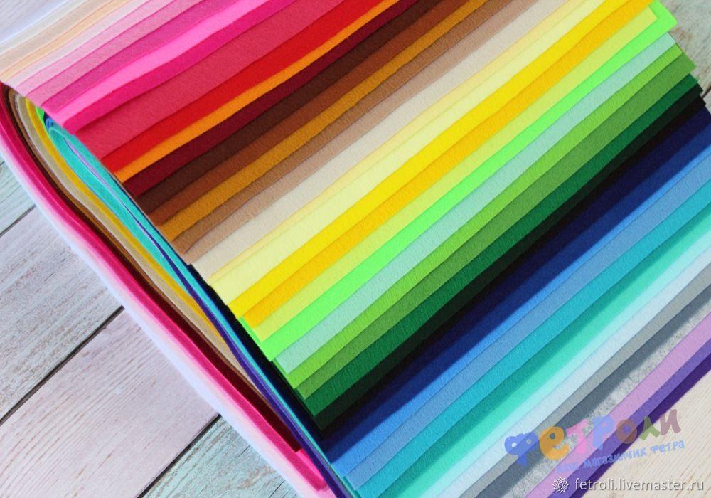 Набор 47 цветов мягкого 1мм корейского фетра, Фетр, Москва,  Фото №1