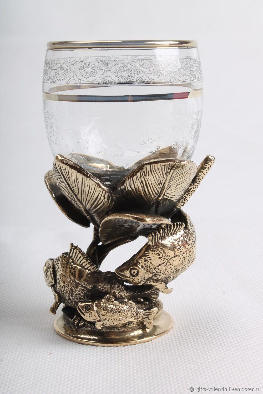 Glass 'a good catch' Perch, Shot Glasses, Vacha,  Фото №1