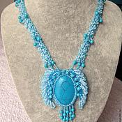 Украшения handmade. Livemaster - original item Pendant with turquoise. Handmade.