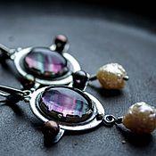 Украшения ручной работы. Ярмарка Мастеров - ручная работа Серьги серебро натуральные камни из серебра с жемчугом серебряные. Handmade.