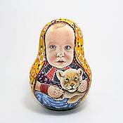 Народные сувениры ручной работы. Ярмарка Мастеров - ручная работа Портретная неваляшка. Handmade.