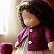 Вальдорфская игрушка ручной работы. Вероничка, 32см. Калина Ерофеева куклы для детей. Интернет-магазин Ярмарка Мастеров. Вальдорфская кукла