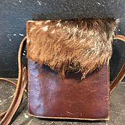 Винтаж handmade. Livemaster - original item Handbag made of genuine leather with fur, Holland. Handmade.