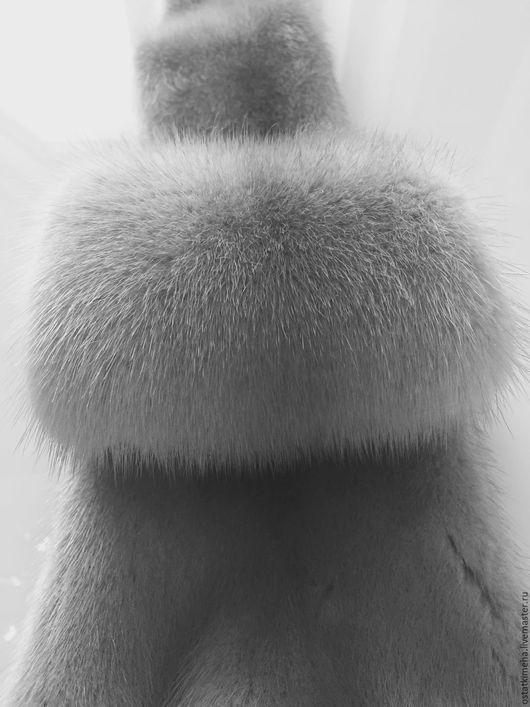 Шитье ручной работы. Ярмарка Мастеров - ручная работа. Купить Пластины большие серо-голубой норки. Аукционный мех.. Handmade.