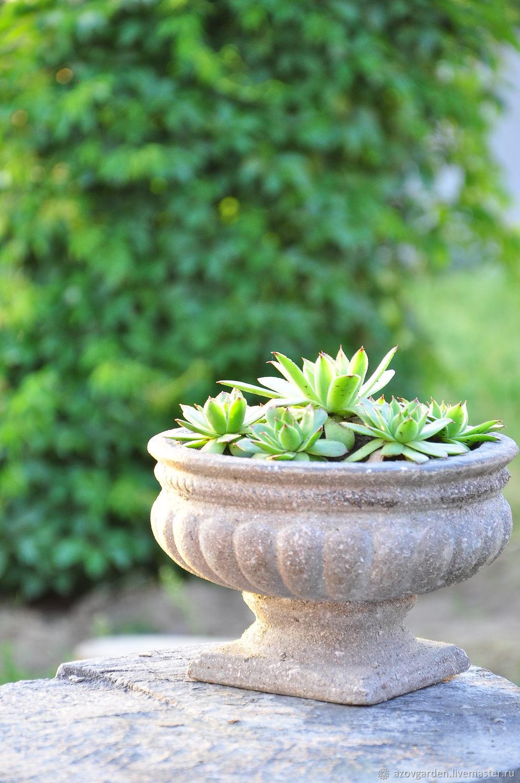 Aged Vase Vintage concrete, garden vase, street vase, Vases, Azov,  Фото №1