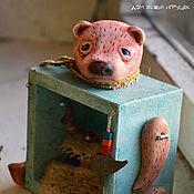Куклы и игрушки handmade. Livemaster - original item inner peace... teddy - a roombox. Handmade.