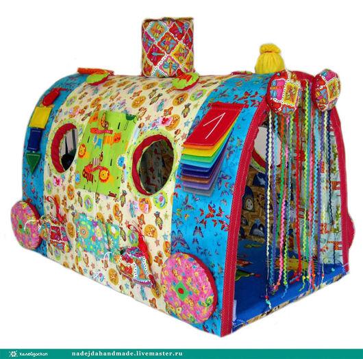 """Развивающие игрушки ручной работы. Ярмарка Мастеров - ручная работа. Купить Развивающая игрушка Чудо-Поезд """"Игрушки-зверюшки"""". Handmade."""